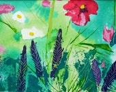 Flower Painting in Acrylics Summer Meadow