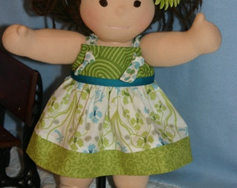 "Knot Dress for Bamboletta, American Girl, Waldorf and other 15 to 18"" dolls."