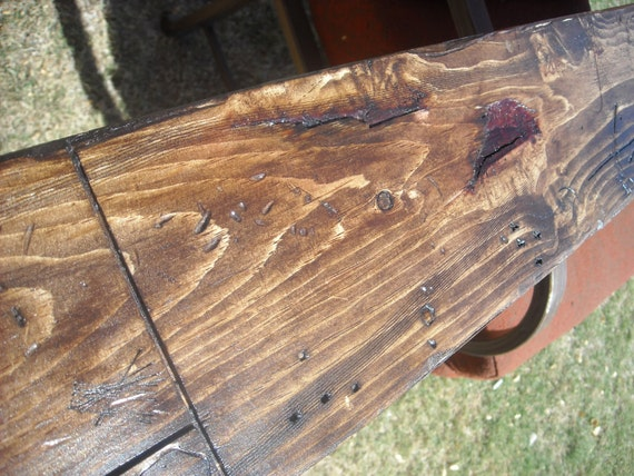 """Mantel rustic wood - made to order  60-72"""""""