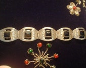 Mexican Bracelet with Onyx Vintage