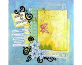 Always be Yourself Premade Scrapbook Layout