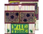 Premade Scrapbook Layout Zoo, Wild Thing, Elephant, Giraffe