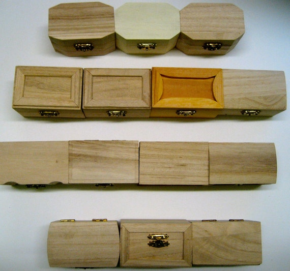 Small Unfinished Wooden Craft Boxes