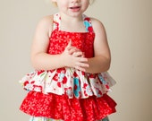 Girl's Dress PDF Sewing Pattern - Ruffles Galore Sundress 1-5t