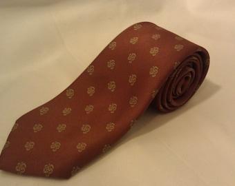 1970s Silk Men's Tie by Glenora