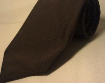 Men's 1970s Brown Tie by  Montgomery Ward