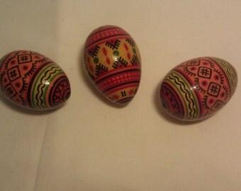 Ukrainian Easter Eggs Set of 3