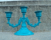 Gorgoues Blue Candelabra Ornate