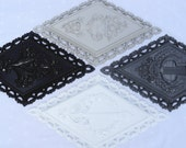 Black White and Grays Ornate Wall Plaques