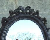 Black  Hollywood Regency Wall Mirror Italy