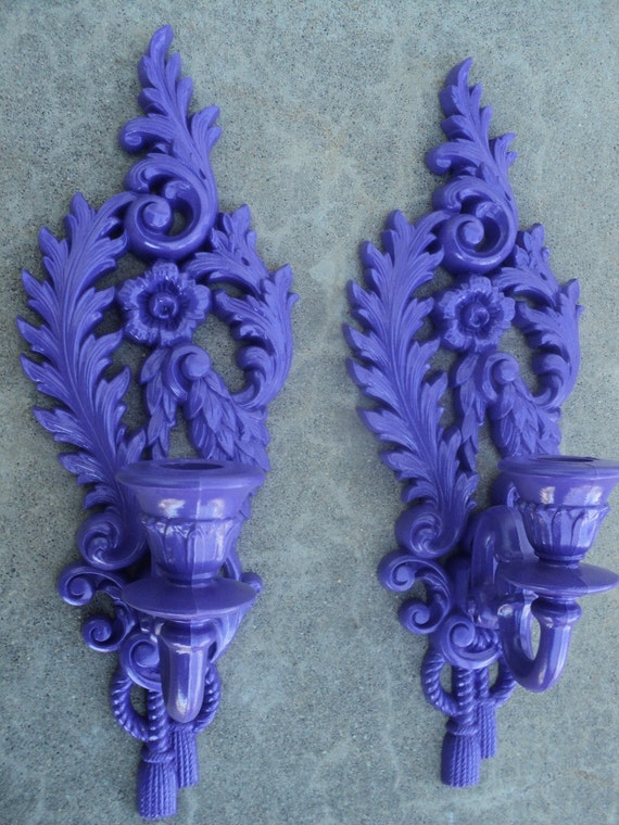 Wall Sconces With Grapes : Grape Purple Wall Sconce Candle Holder by melissap6908 on Etsy