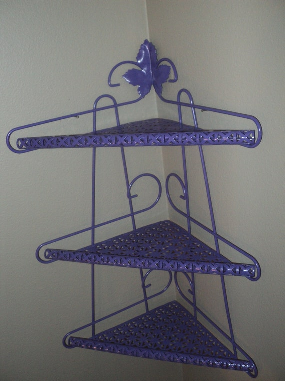 Reserved for Mags1015 Purple Corner Shelf Metal