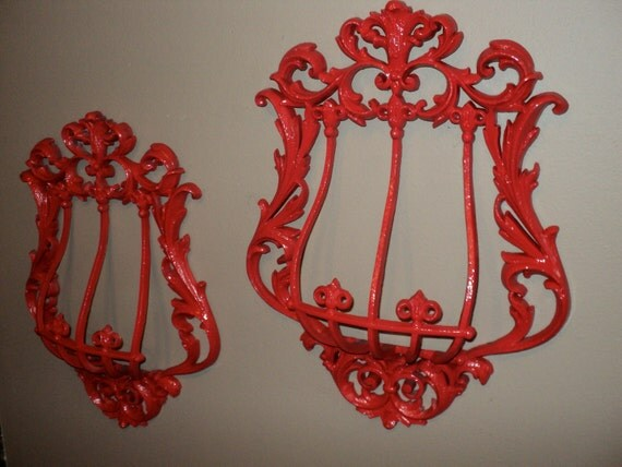 RESERVED for Natalie Red Wall Cages