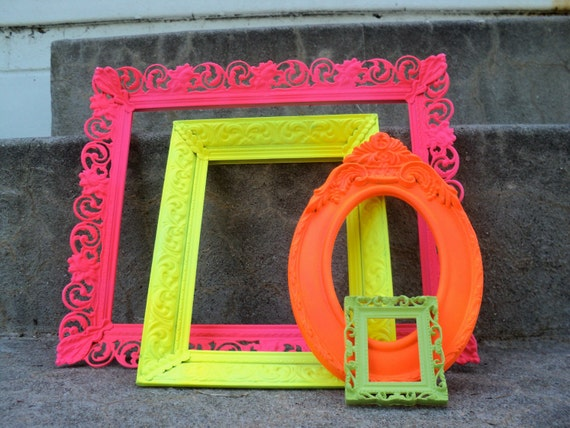 Bright and Shiny Picture Frames Set Ornate