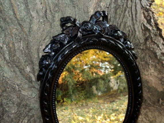 Gorgeous Black Vintage Wall Mirror Bow
