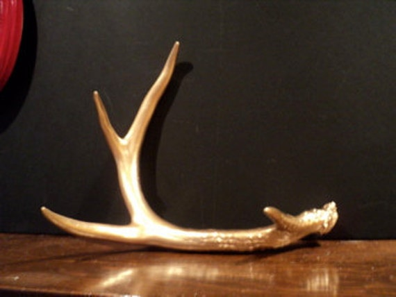 Reserved for Heather Modern Metallic Gold Painted Antler
