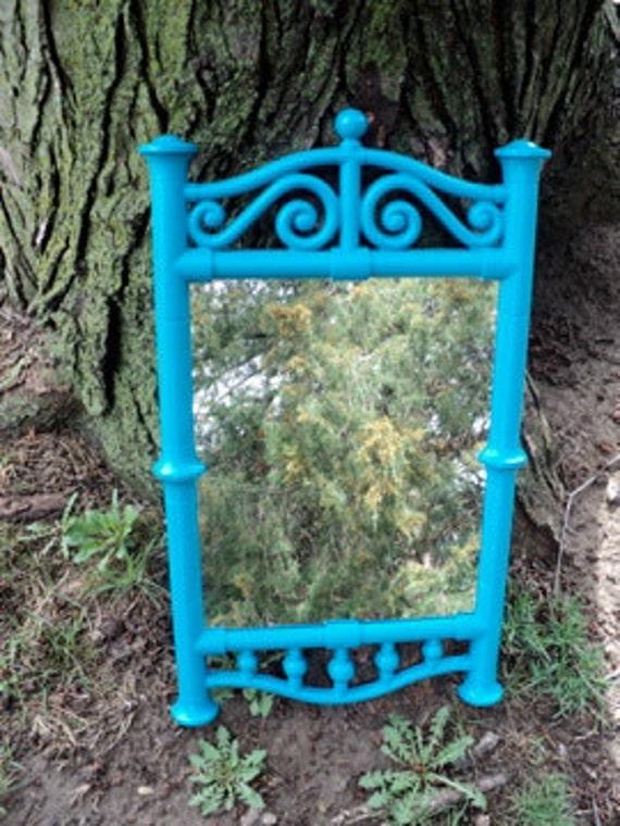 Vintage Blue Scrolly Wall Mirror