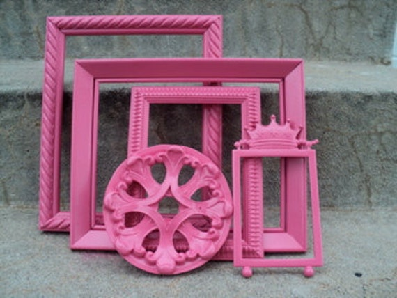 Pretty in Pink Picture Frame Set Ornate