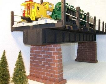 O Scale DOUBLE TRACK Girder Bridge for Model Railroads