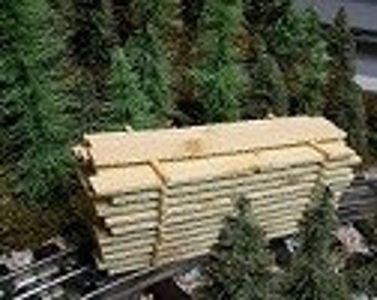Miniature Lumber Pile for Sawmill Themed Landscaping, HO Gauge Model Railroad or Rustic Wedding & Party Favors