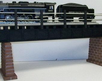 Model Railroad O Scale Single Track Girder Bridge // Great with Lionel Fas track or Realtrax