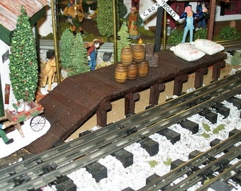 Wooden Freight Platform for Layouts, Dollhouse Yards, or Scenery / Model Railroad O Gauge