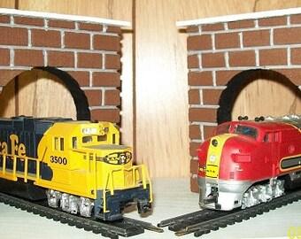 TRAIN TUNNEL PORTALS For H0 Scale Model Railroad Train Layouts- Set of 2