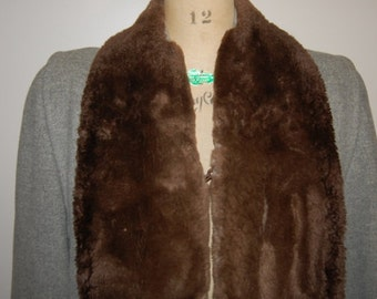 Vintage 1940s Sheared Beaver and Wool Coat Luxurious 40s Fashion Attire