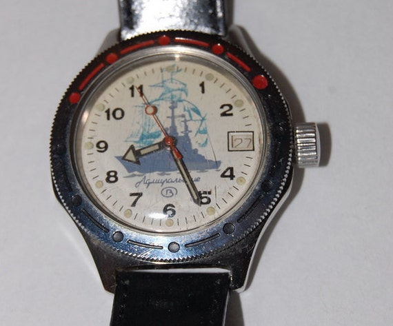 1980's Russian Vintage Watch Military Naval Ship CCCP Soviet Union