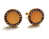 Vintage Foster Cuff Links Aurora Borealis and Goldtone