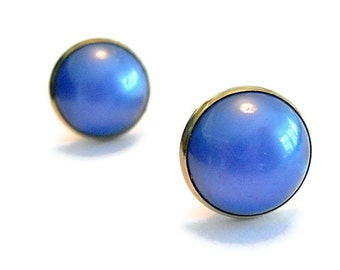 Vintage CuffLinks Blue  Hickok Lucite 1960s Groom Fathers Day