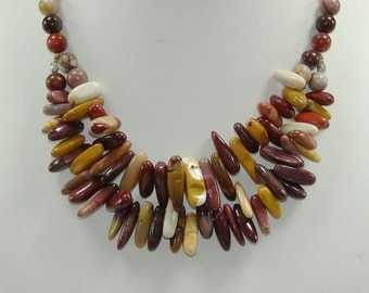 Layered Mookaite Necklace