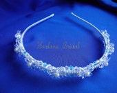 Crystal Headband,  Bridal crystal headpiece,  Wedding Pearl & Crystal headband