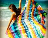 Made to order COTTON tie dye beach sarong/cover up Cruise apparel. Member of The Artisan Group