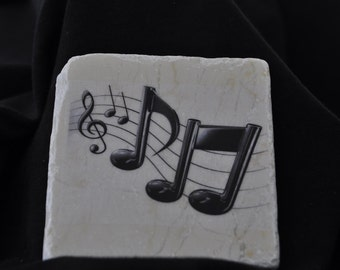 Music  Note Coasters Set of 4 handcrafted