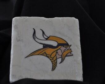 Minnesota Vikings Coasters Set of 4 Handcrafted