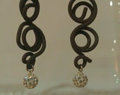 Sterling Silver and Crystal Jewelry Earrings with Vintage Ranch Wire