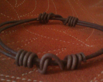 Simple, Handcrafted Bracelet of Vintage Ranch Bailing Wire