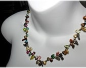 Freshwater Pearl Knotted Necklace colorful