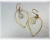 Ligh t Weight Hand Forged Gold Plated Earrings