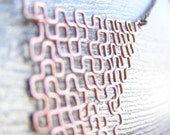 Fractal Necklace - Polya Sweep in Raw Copper