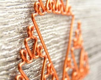 Sierpinski Triangle - Fractal Necklace in Orange