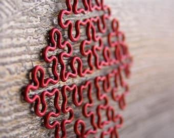 Fractal Necklace - Cesaro Fractal in Red