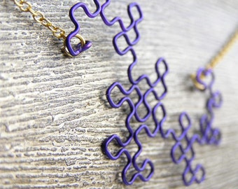Fractal Necklace - Dragon Curve in Orchid
