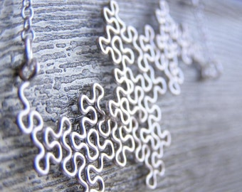 Fractal Necklace - Terdragon in Silver