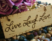 Live Laugh Love Distressed Wood Sign