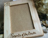 Wedding Gifts for Parents Rustic Chic Frame Parents of the Bride or Groom with YOUR Carved Initials in a Heart