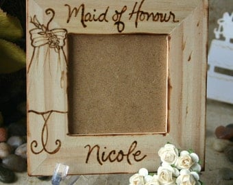 Maid of Honor Honour Sentimental Wedding Gift Personalized with YOUR Dress