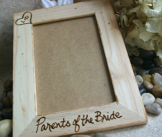 Wedding Gifts For Parents Photo Frames : Wedding Gifts for Parents Rustic Chic Frame Parents of the Bride or ...