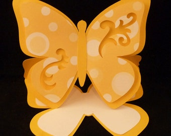 Butterfly Easel Card with Simple Cutouts SVG cut files